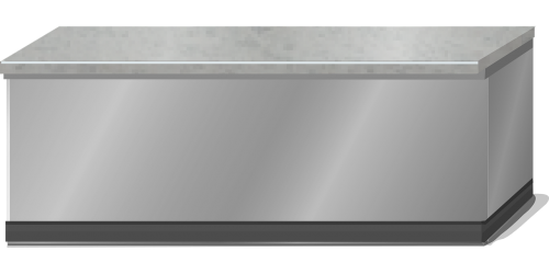 counter stainless steel grey