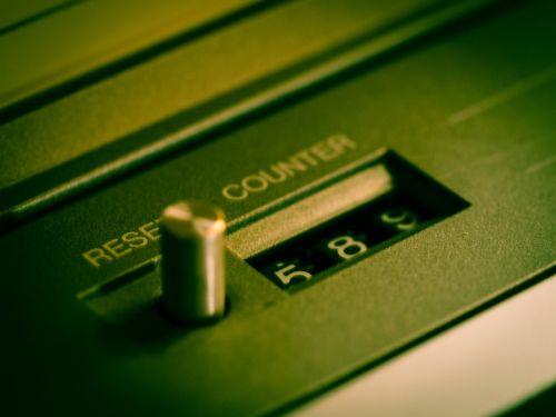counter tape cassette recorder