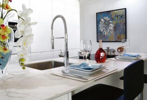 countertop kitchen sink