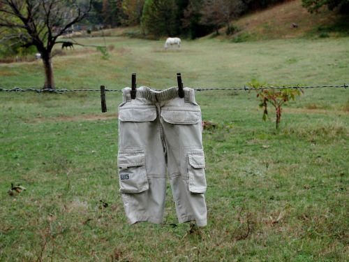 country clothesline nature