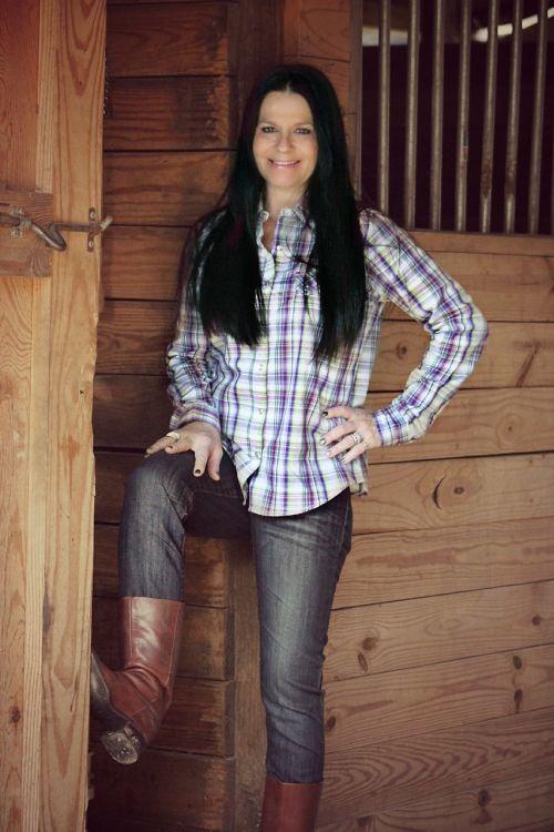 country girl woman barn