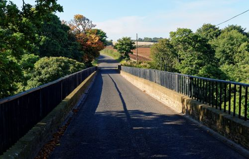 country lane bridge lane
