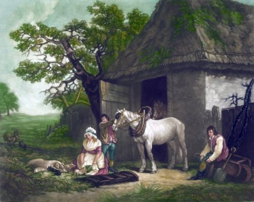 Country Life Farm Painting