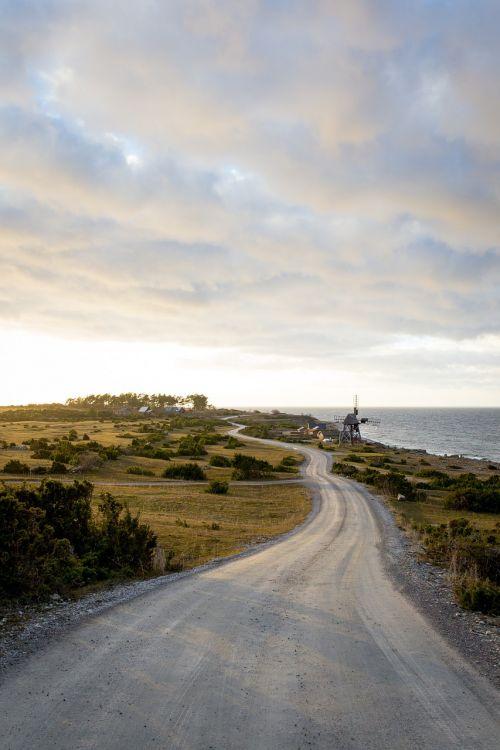 country road seaside road