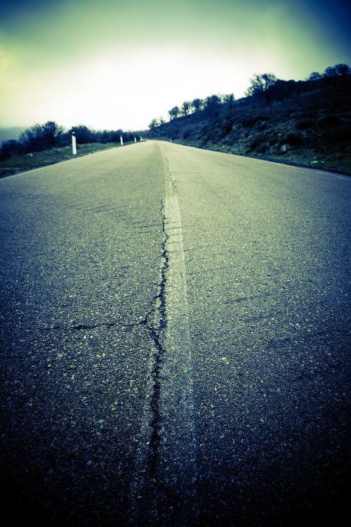 country road asphalt road