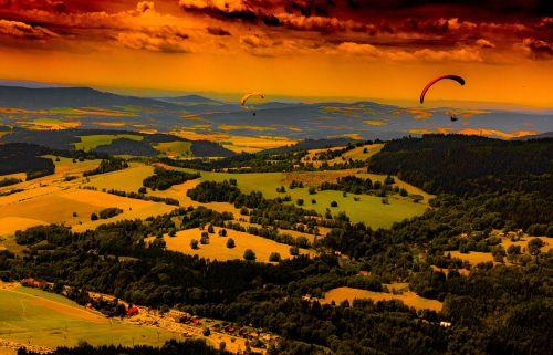 countryside dawn dusk