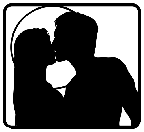couple silhouette love