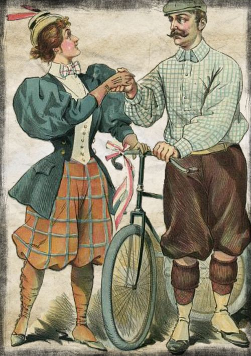 couple bicycle vintage