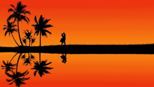 couple love silhouette