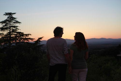 pora,meilė,saulėlydis,Draugystė,žiūrėti saulėlydį,jausmai,apšvietimas