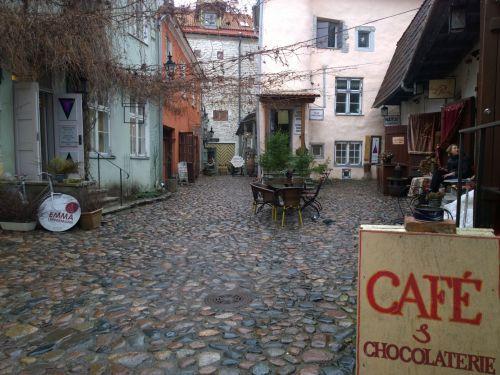 Courtyard Old Town Tallinn Estonia