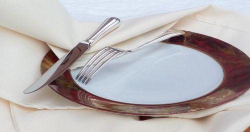 covered knife fork