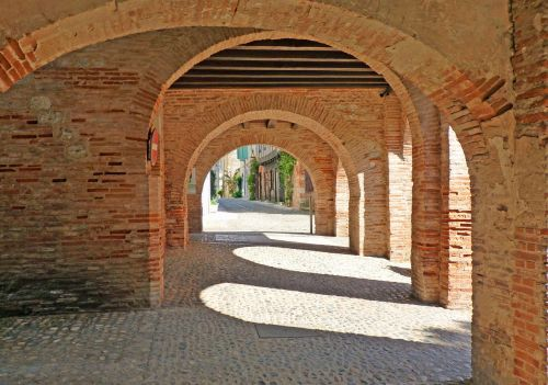 covered middle ages brick