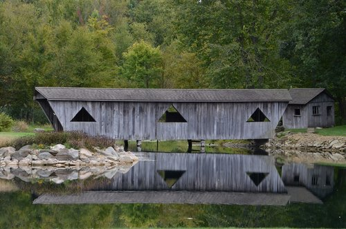 covered bridge  bridge  rustic
