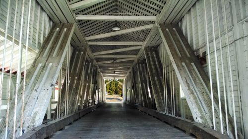 covered bridge structural rural