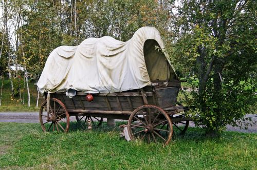 covered wagon nostalgia wagon