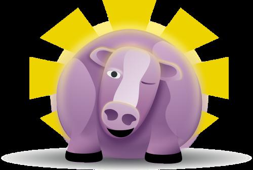 cow purple fat