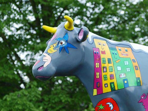 cow figure statue