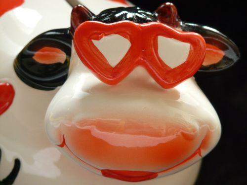 cow glasses herzchen