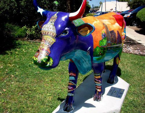 cow street art sculpture