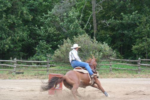 cowboy rodeo barrel racing