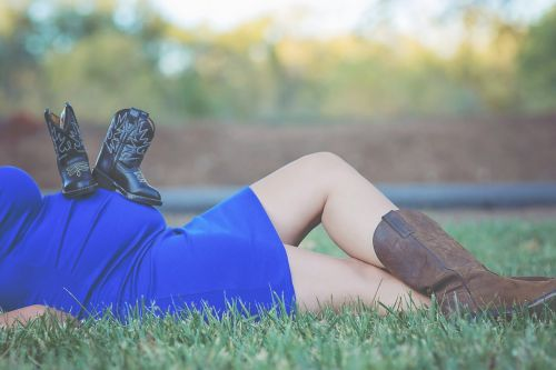 cowboy expecting boots