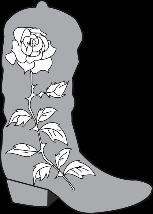 cowboy boot rose
