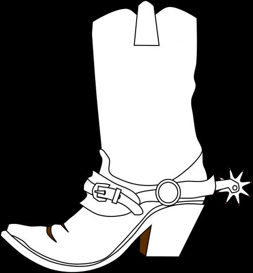 cowboy boots spurs boots
