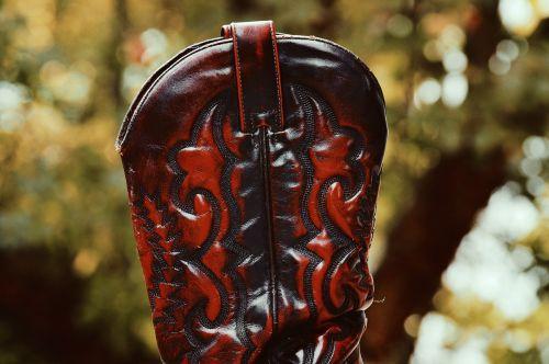 cowboy boots shafts leather