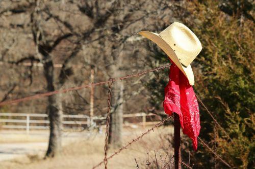 Cowboy Hat And Bandana Border