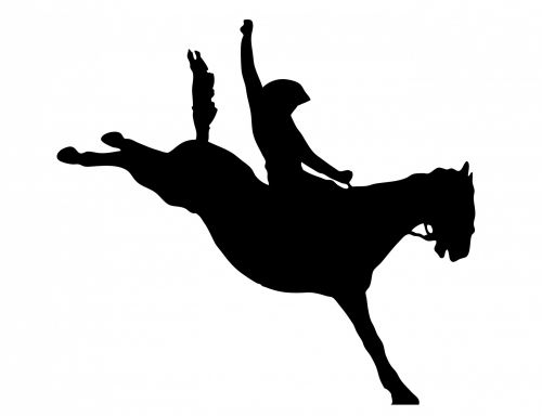 Cowboy Horse Rider Clipart
