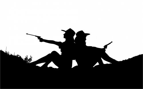 Cowgirls With Guns Silhouette