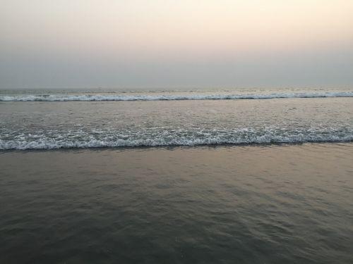 cox's bazar beach sunset