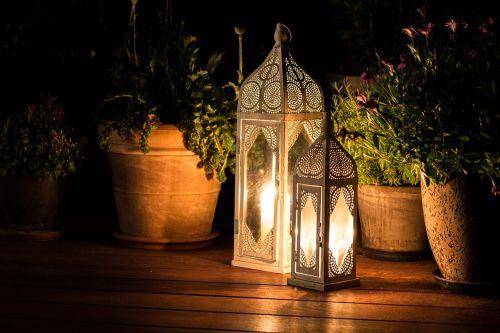 cozy terrace lanterns
