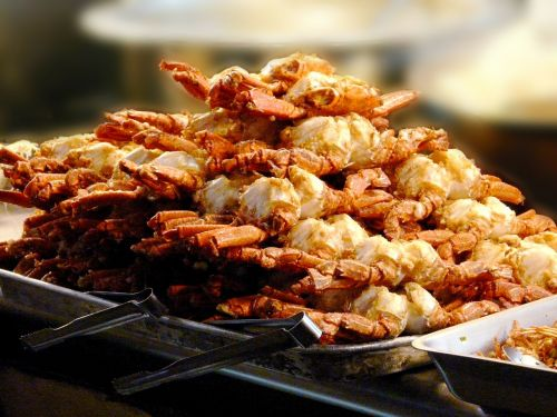 crab fried crabs dinner
