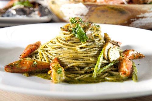 crab meat  basil  pasta