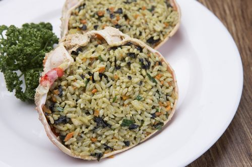 crab shell fried rice snow crab self-restraint up to