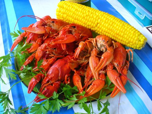 crabs corn food