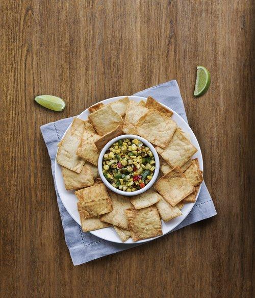 crackers  pita  corn