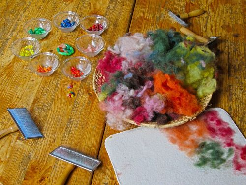 crafts wool kindergarten