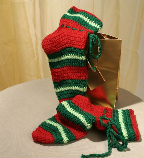 crafts socks christmas