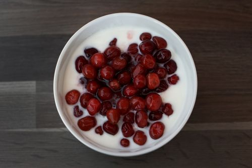 cranberry cranberries yogurt