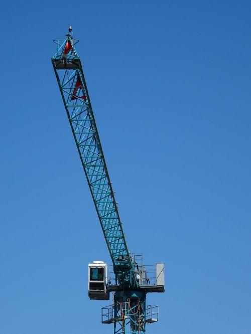 crane baukran blue sky