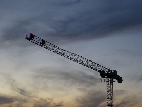crane construction sky