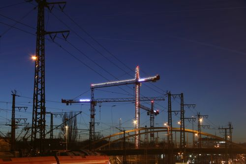 crane site baukran