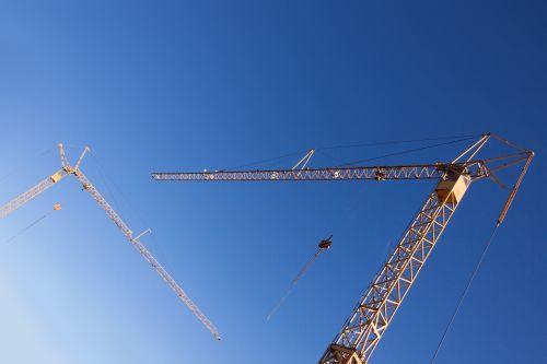 crane yellow low angle shot