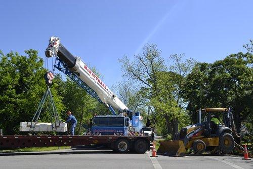 crane  bulldozer  extraction