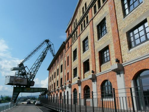 crane dock loading crane mainz