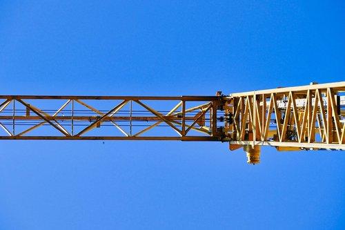 crane  baukran  sky