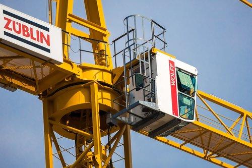 crane  baukran  crane cab